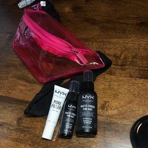 NWT NYX matte mist primer & belt bag set